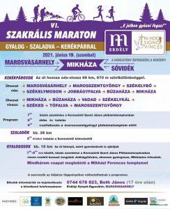 Szakrális Maraton - Mikháza (Marosvásárhely) - plakát 2021