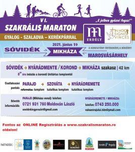 Szakrális Maraton - Mikháza (Sóvidék) - plakát 2021