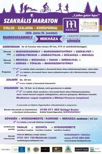 Szakrális Maraton - Mikháza - plakát 2020