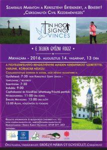 Szakrális Maraton - Mikháza - plakát 2016
