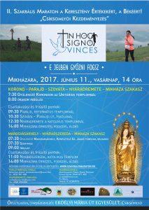 Szakrális Maraton - Mikháza - plakát 2017